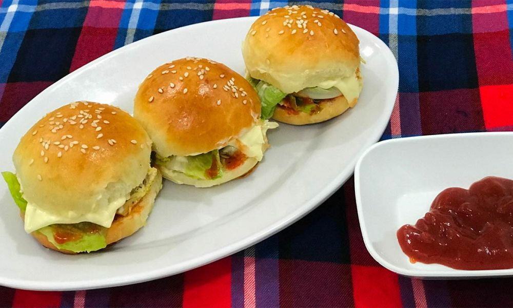 Game Night Recipes - Chicken and Cheese Burger Sliders